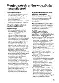 Sony SLT-A37 - SLT-A37 Consignes d'utilisation Hongrois - Page 5