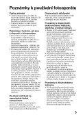 Sony SLT-A37 - SLT-A37 Consignes d'utilisation Tchèque - Page 5