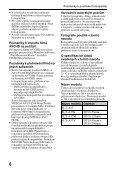 Sony SLT-A37 - SLT-A37 Consignes d'utilisation Tchèque - Page 6