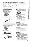 Sony SLT-A37 - SLT-A37 Consignes d'utilisation Tchèque - Page 7
