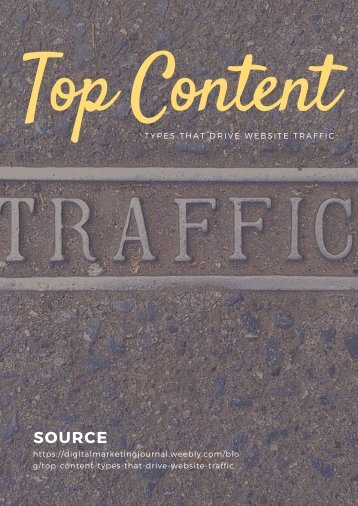 Top Content Types that Drive Website Traffic