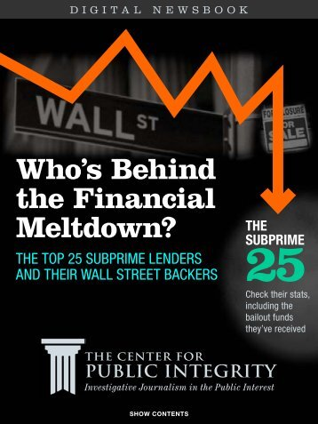Who's Behind the Financial Meltdown? - Reynolds Journalism Institute