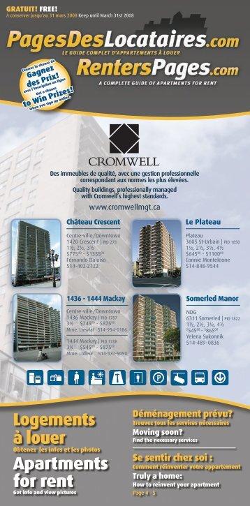 Logements à louer Apartments for rent - RentersPages.com
