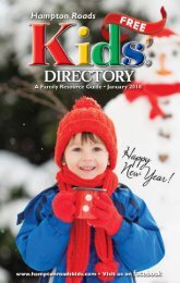 Hampton Roads Kids' Directory: January 2018 issue