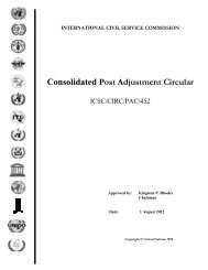 Consolidated - the International Civil Service Commission