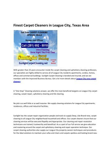 carpet cleaning deals League City TX
