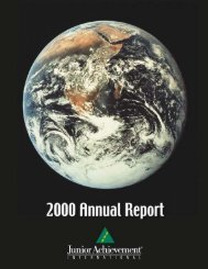 Annual Report for FY 2000-2001 - JA Worldwide