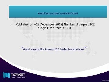 Global Vacuum Lifter Market 2017-2021