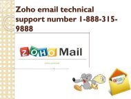 zoho email technical support number 1-888-315-9888