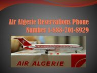 Air Algerie customer service number 1-888-701-8929 | booking number