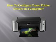 How To Configure Canon Printer Drivers on a Computer?