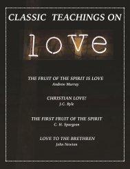 CLASSIC TEACHINGS ON LOVE J.C. Ryle, Andrew Murray, Spurgeon, John Newton