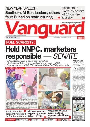 02012018 - FUEL SCARCITY: Hold NNPC, marketers responsible — SENATE