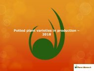 Potted plant varieites in tissue culture - 2018