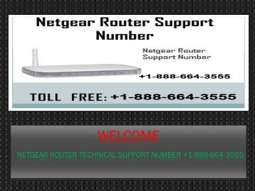 Call +1-888-664-3555 Netgear Router support phone number