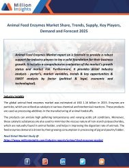 Animal Feed Enzymes Market Share, Trends, Supply, Key Players, Demand and Forecast 2025