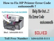 1(800)576-9647 How to Fix HP Printer Error Code 0x610000f6