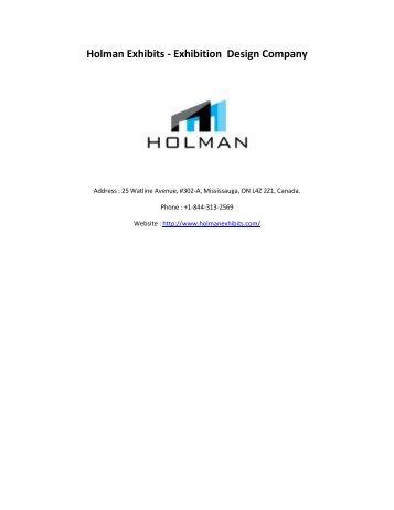Holman Exhibits Exhibition Design Company