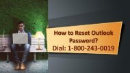 How to Reset Outlook Password? 1-800-243-0019 For Assistance