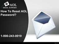 How to Reset AOL Password? 1-800-243-0019 For Assistance
