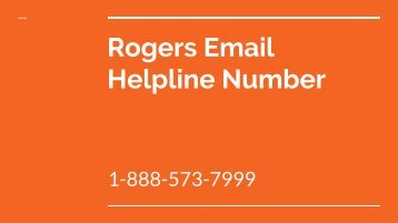 Rogers Email Helpline Number | toll free number