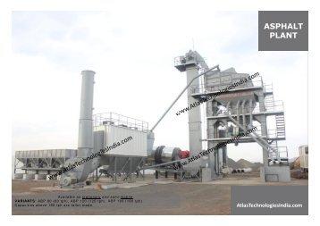Asphalt Mixing Plant Pdf - Atlas Technologies