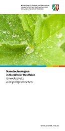 Nanotechnologien in Nordrhein-Westfalen - Ministerium für ...