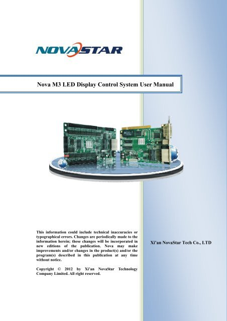 Nova M3 LED Display Control System User Manual