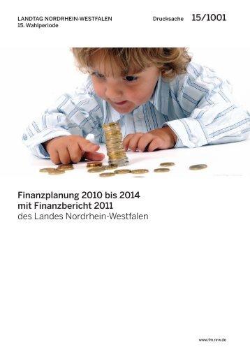 Finanzplanung 2010 bis 2014 - Finanzministerium NRW