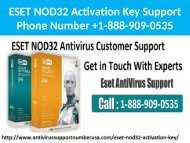 1-888-909-0535 ESET NOD32 Activation Key Support Number