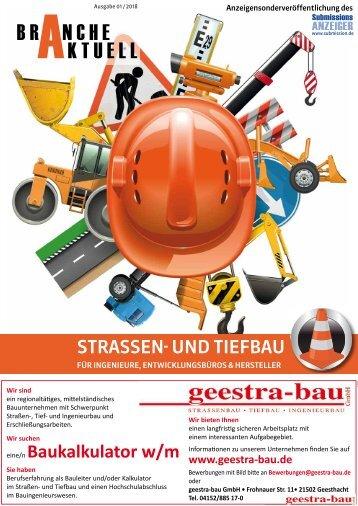 Branche Aktuell, Ausgabe 01/2018  STRASSEN- UND TIEFBAU