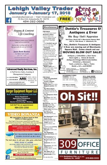 Lehigh Valley Trader January 4-January 17, 2018 issue
