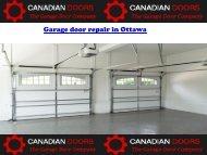 Garage door repair in Ottawa
