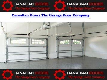 Canadian Doors The Garage Door Company