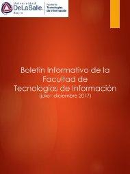 Boletín - Facultad de TI - Julio - Diciembre 2017