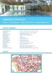 Flyer Hallenbad - Delbrück