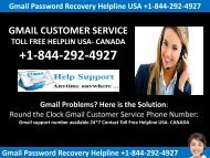 Recover a Forgotten Gmail Password +1-844-292-4927