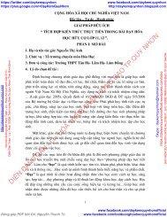 SKKN TÍCH HỢP KIẾN THỨC THỰC TIỄN TRONG BÀI DẠY HÓA HỌC HỮU CƠ LỚP 11, 12
