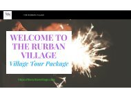Village Tour Packages by The RurBan Village