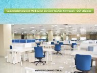 Commercial Cleaning Melbourne Services You Can Rely Upon - GSR Cleaning