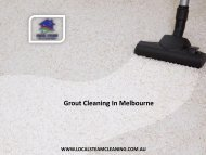 Grout Cleaning In Melbourne