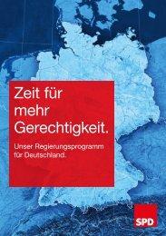 SPD_Regierungsprogramm Bundestagswahl 2017