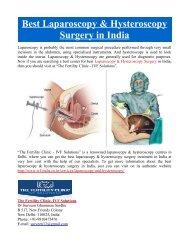 Best Laparoscopy & Hysteroscopy Surgery in India