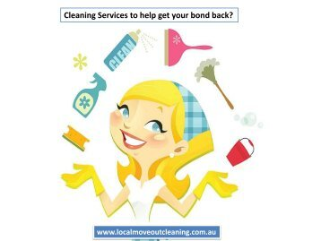 Cleaning Services to help get your bond back?