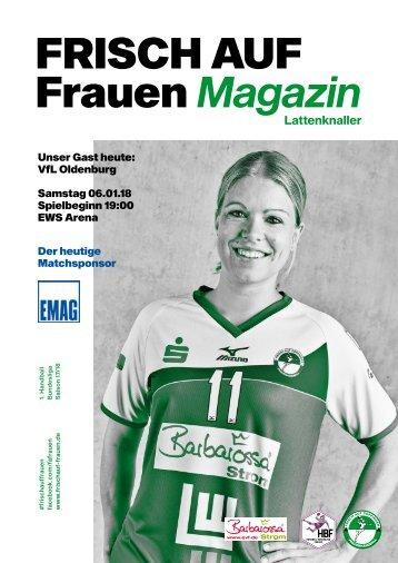 """Ausgabe 4 - Saison 2017/2018 - FRISCH AUF Frauen Magazin """"LATTENKNALLER"""""""