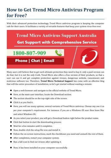 How to Get Trend Micro Antivirus Program for Free?