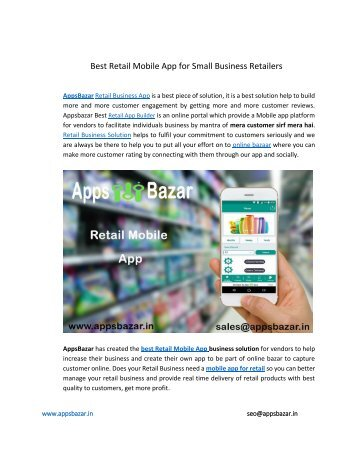 Best Retail Mobile App for Small Business Retailers