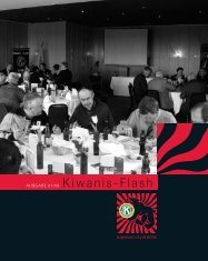 AUSGABE 01/08 Kiwanis-Flash - Kiwanis Club Bern