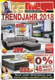 Startet mit uns ins Trendjahr 2018 - MEGA Möbel in Schwandorf und Weiden