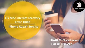 Fix Mac internet recovery error 1005f